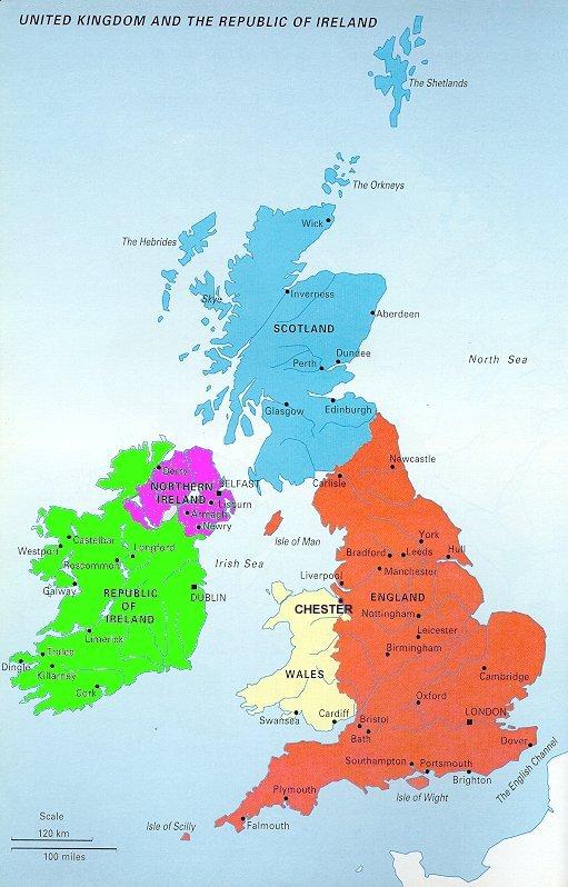 Carte Angleterre En Anglais.Generalites Sur Le Monde Anglo Saxon